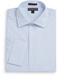 Saks Fifth Avenue - Slim-fit Pencil Stripe Cotton Dress Shirt - Lyst