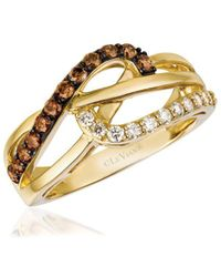 Le Vian - Chocolatier Honey Gold Vanilla & Chocolate Multi-band Ring - Lyst