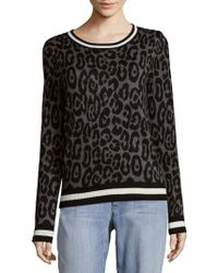 Saks Fifth Avenue - Leopard Knit Jumper - Lyst
