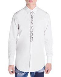 DSquared² - Main Slim-fit Ruffled Shirt - Lyst