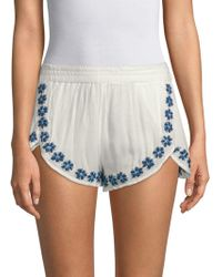 Raga - Mancora Embroidered Shorts - Lyst