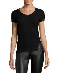 Helmut Lang - Cotton Scoopneck Shirt - Lyst