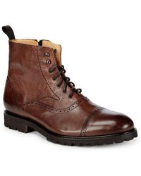 Saks Fifth Avenue - Lace-up Leather Boots - Lyst