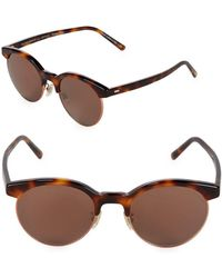 41a156d5e90 Westward Leaning Pharoah Clear 49mm Square Sunglasses in Gray - Save ...