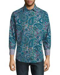 Robert Graham - Paisley Cotton Button-down Shirt - Lyst