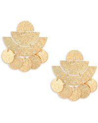 Panacea - Art Deco Drop Earrings - Lyst