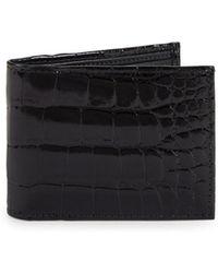 Saks Fifth Avenue - Textured Leather Bi-fold Wallet - Lyst