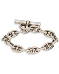 Hermès - Vintage Sterling Silver Chain & Toggle Bracelet - Lyst