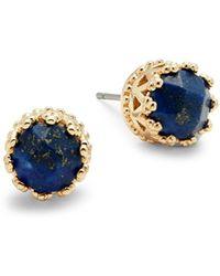 Ava & Aiden - Lapis Crown Stud Earrings - Lyst