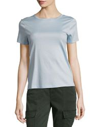 Helmut Lang - Back Tie Cotton Tee - Lyst