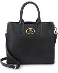 Roberto Cavalli - Grainy Calf Leather Tote Bag - Lyst