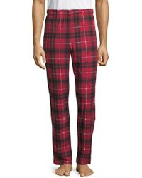 Michael Kors - Plaid Fleece Lounge Trousers - Lyst