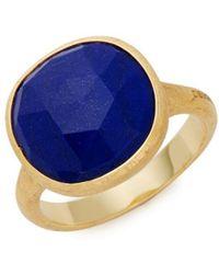 Marco Bicego - Jaipur 18k Yellow Gold & Lapis Lazuli Ring - Lyst