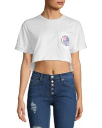Monrow - Crewneck Cotton Cropped Top - Lyst