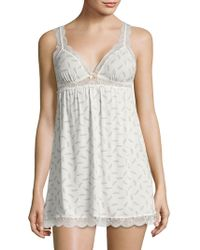 Eberjey - Printed Lace Chemise - Lyst