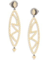 Freida Rothman - Marquise Cutout Drop Earrings - Lyst