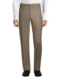 Zanella - Parker Flat Front Wool Trousers - Lyst