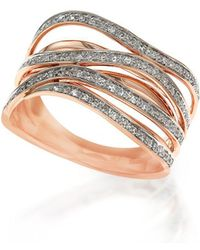 Effy - 14k Rose Gold Pavé Diamond Ring - Lyst