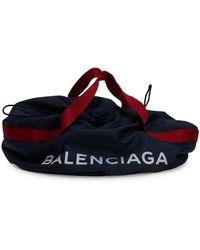 Balenciaga Small Wheel Logo Weekender Bag - Blue