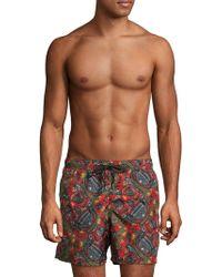 Jared Lang - Sugar Skull Print Swim Shorts - Lyst