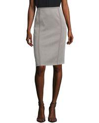 Basler - Geometric Printed Skirt - Lyst