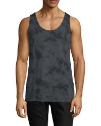 Threads For Thought - Printed Cotton Tank Top - Lyst