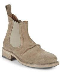 John Varvatos - Vintage Grandfather Suede Chelsea Boots - Lyst