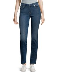 7 For All Mankind - Faded Straight Jeans - Lyst