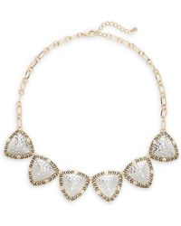 Saks Fifth Avenue - Patterned Necklace - Lyst