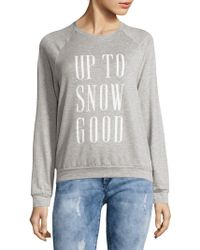 Project Social T - Heathered Printed Sweatshirt - Lyst