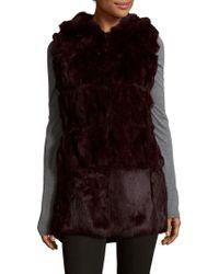 Belle Fare - Plush Dyed Rabbit Fur Vest - Lyst