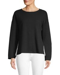 French Connection - Ribbed Roundneck Top - Lyst