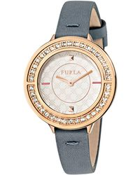 Furla - Club White Dial Calfskin Leather Watch - Lyst