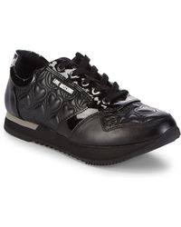 Love Moschino - Quilted Low-top Sneakers - Lyst