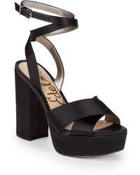 1496a14d84ba Sam Edelman - Masie Platform Sandals - Lyst. BCBGeneration - Farlyn  Microsuede Block Heel ...