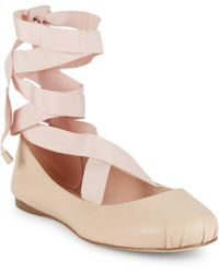 BCBGeneration - Talia Tie-up Ballet Flats - Lyst