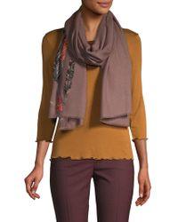 Janavi - Embellished Merino Wool Scarf - Lyst