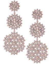 Adriana Orsini - Pavé Snowflake Drop Earrings - Lyst