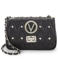 Valentino By Mario Valentino - Noelled Studded Leather Crossbody Bag - Lyst