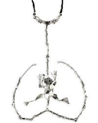 Valentino - Sterling Silver Frog Body Chain - Lyst