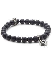 King Baby Studio - Onyx Beaded Bracelet - Lyst