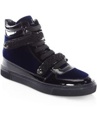 Louis Leeman - Braid Buckle Leather High-top Sneakers - Lyst