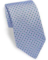 Saks Fifth Avenue | Geometric Patterned Silk Tie | Lyst