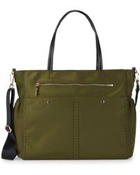 MILLY - Solid Stitch Diaper Bag - Lyst