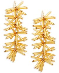 Panacea - Beaded Stick Drop Earrings - Lyst