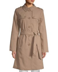 Kate Spade - Patchwork Spread Collar Raincoat - Lyst