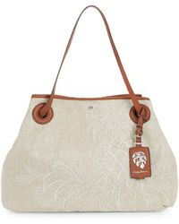 Tommy Bahama - Embroidered Canvas Tote - Lyst