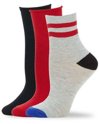 Hue - Cotton Blend Socks- 3 Pairs - Lyst