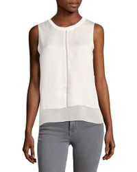 Saks Fifth Avenue | Tiered Woven Blouse | Lyst