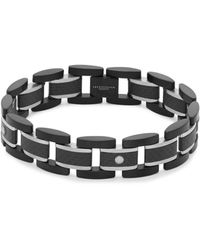 Tateossian - Titanium And Carbon Fiber Link Bracelet - Lyst